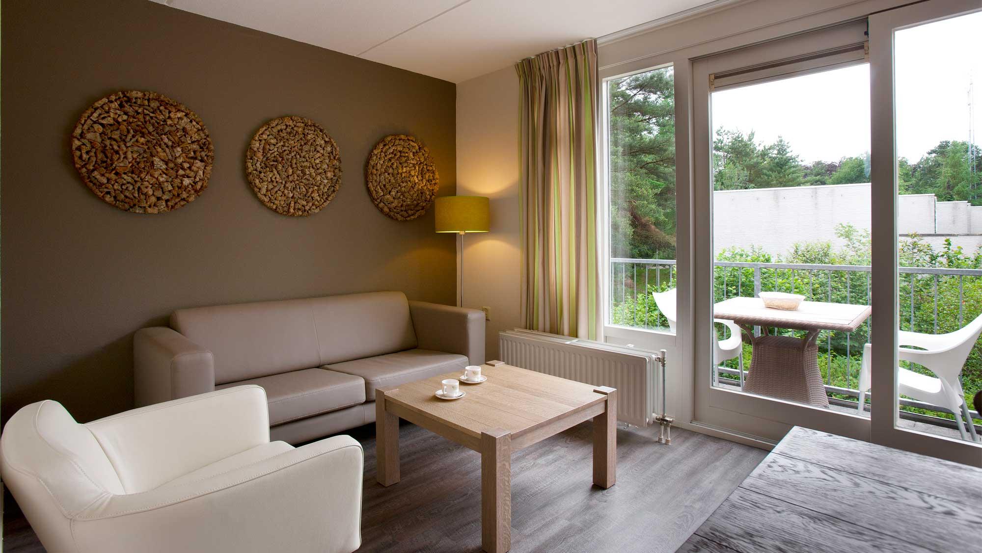 Interieur De Luxe Appartement 2 persoons appartement met sauna op landgoed ginkelduin